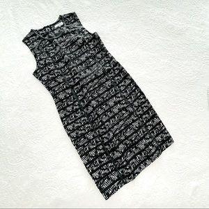 NWT Calvin Klein Black White Multi Sheath Dress